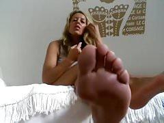 german Milf humilat you Feet POV