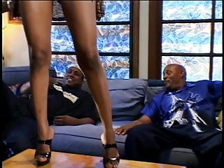 Black whore with huge tits gets her pussy stuffed with hard cock