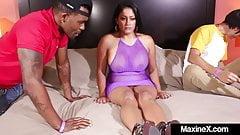Real Life Asian Sex Doll Maxine X Fucks White & Black Cocks!