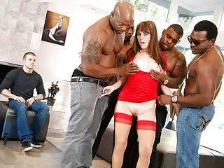 Interracial Orgy and Anal Sex with Alana Cruise