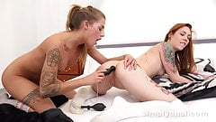 Simplyanal - Tattooed Foxie and Silvia toy their asses