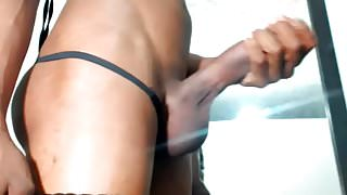 Thick Masturbating Hung Shemale