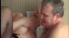French mature bi couple share a dick & love it