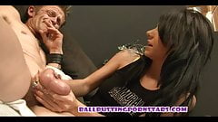 Teenage Ballbusting with the Dickflashing Old Pervert