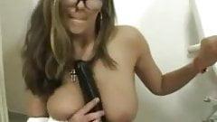 German woman with her big Dildo