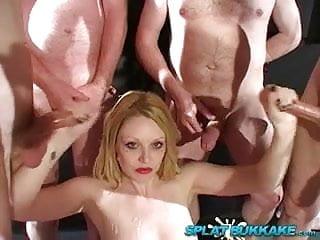 UK pornstar blonde Shay Hendrix takes cumshots