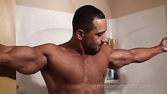 Big Muscle in the Shower