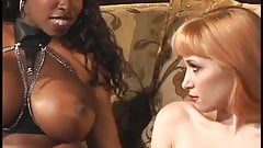 2 Ebony Godesses Dominate a White Sub