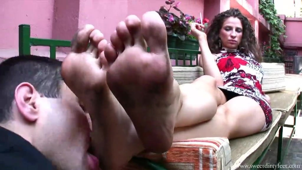 Suking forced to lick moms dirty feet mix oral