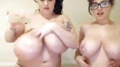Tessa Fowler ann leanne Crow put on a sexy show