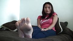 Sexy asain girl with sexy sole