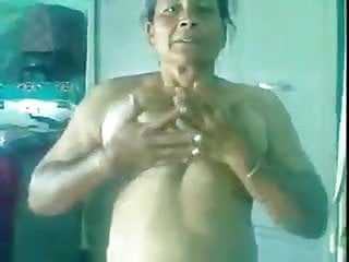 70 Yrs Punjabi Amma's Old Pussy Fucked Hard by Her Young