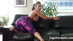 Jerk it for Alexis Rain in yoga pants