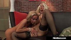 Finger Banging Blondes Nikki Benz & Jazy Berlin Cum Hard!