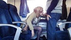 mature amateur couple fuck in the train
