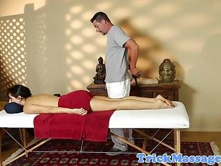 Massage beauty jerking and sucking masseur