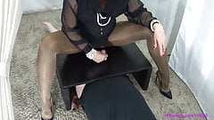 Femdom Pantyhose Trample Handjob
