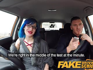 Preview 2 of Fake Driving School Sexy emo gets her ass pounded