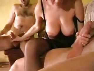 Swingers. Hot girl with 2 man