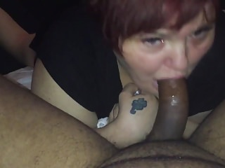 Stephanie West just loves my hook dick down her throat