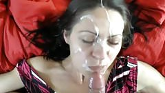 milf take a huge facial