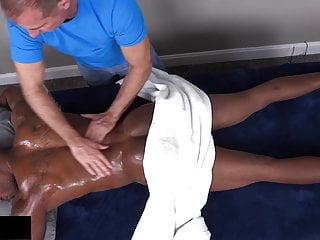 Straight massage and blowjob