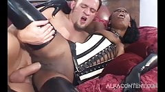 Stunning Black Babe Takes Thick Cock