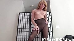 My fishnets will make your cock rock hard JOI