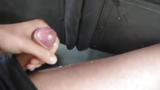 Asia Boy Cum in Bus
