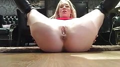 UK Blonde's Creampie