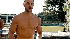 Celebrity Hunk Adam Demos shirtless scenes