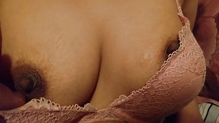 Squeezing my wifes boobs part 2