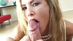 Blonde Hooker Sucks Cock