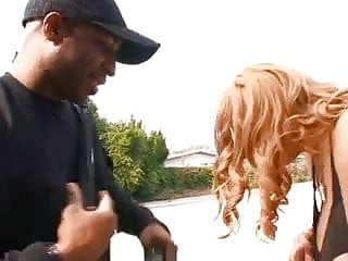 Black coochie hairy - Hussy getting coochie banged out back
