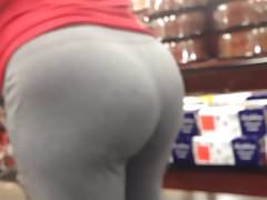 Phat Mature Ass in Grey Sweats Candid Quickie