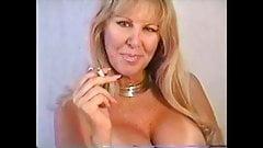 Huge tits smoking