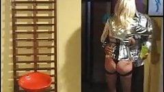 Big tits milf in corset