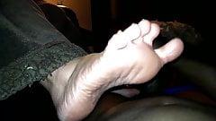wifes bbw footjob footplay