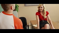 Gorgeous blonde Laura Bentley ready for his dick in her pus