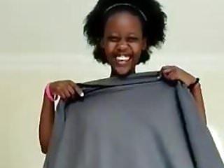 Uganda girl shows her pussy
