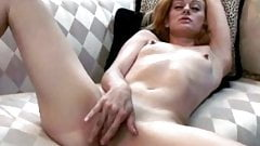 Young strawberry blonde masturbation