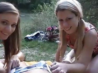 Two Girls One Dick In Nature