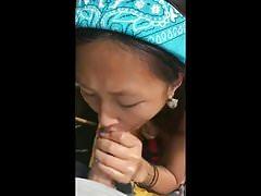 Asian Blowjob & Cumshot on a Kayak
