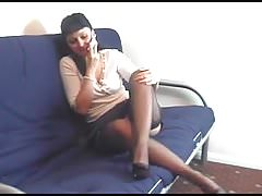 Kirsty Blue On The Phone Playing Through Her Panties