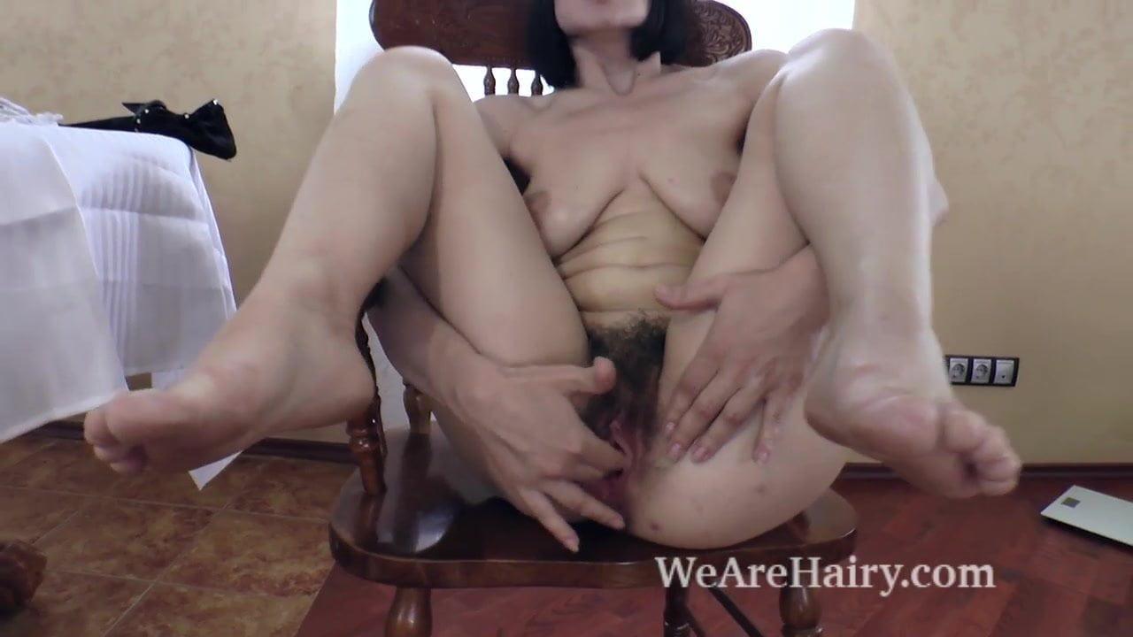 Alina H Picture Porno alina h undresses and masturbates on wooden chair