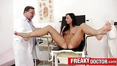 Terra Sweet a hot babe abused by elder tricky gynecologist 's Thumb