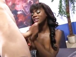 Black wife Ana fucked by white guy in front of her cuckold