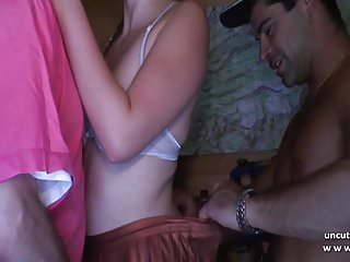 Young french whore analyzed n DP w cum 2 mouth in gangbang