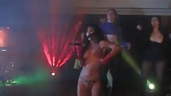 kinky russian girl nude on stage club concert