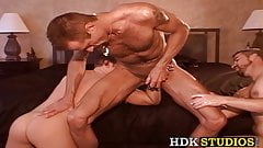 Gay on sex swing fisted in rough anal play session